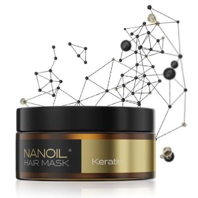 Paras keratiinihiusnaamio vaurioituneille, hauraille ja katkeaville hiuksille Nanoililta